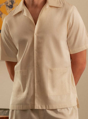 Load image into Gallery viewer, BB x SOJAO Lounge Shirt In Natural