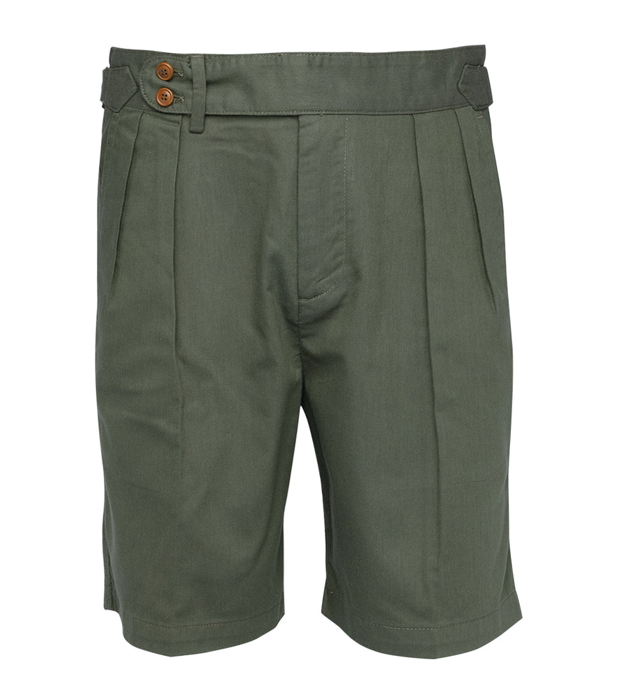 Bermondsy Vintage Military Shorts In Military Green Full