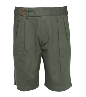 Load image into Gallery viewer, Bermondsy Vintage Military Shorts In Military Green Full