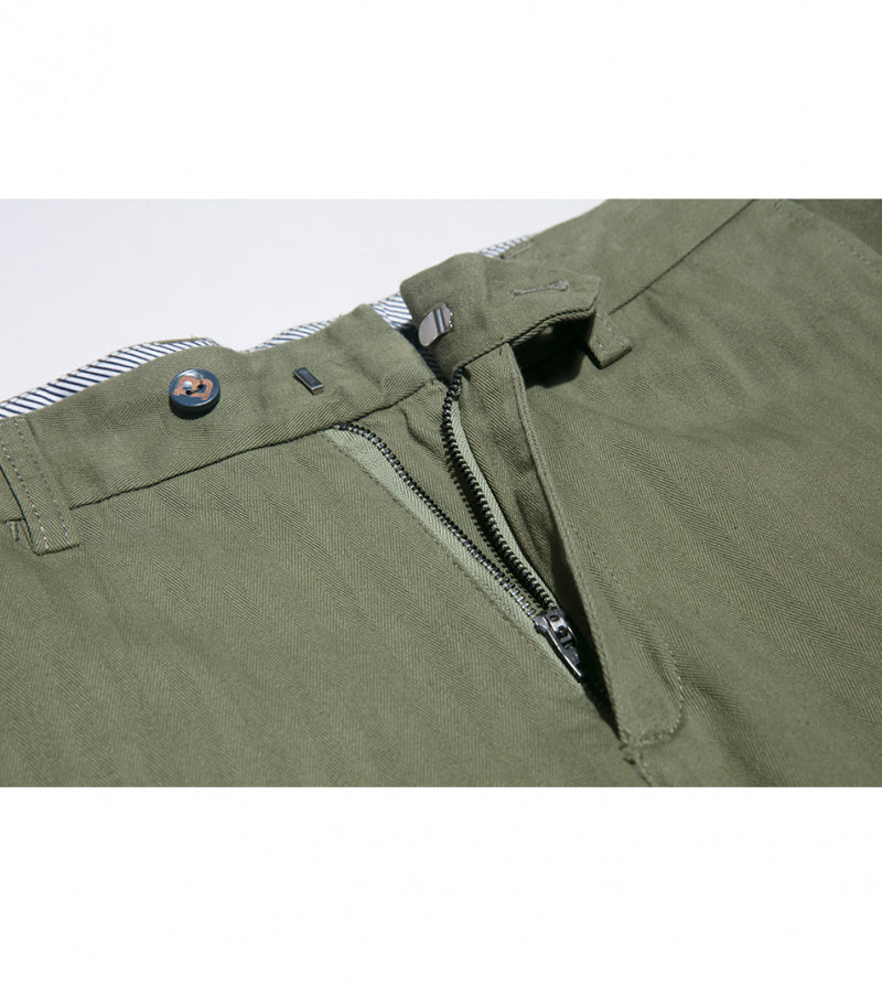 Load image into Gallery viewer, Masuda Washed Chino In Military Green Zip