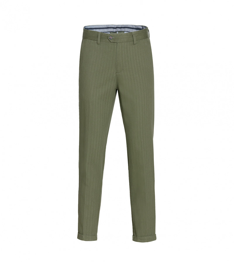 Load image into Gallery viewer, Masuda Washed Chino In Military Green Full