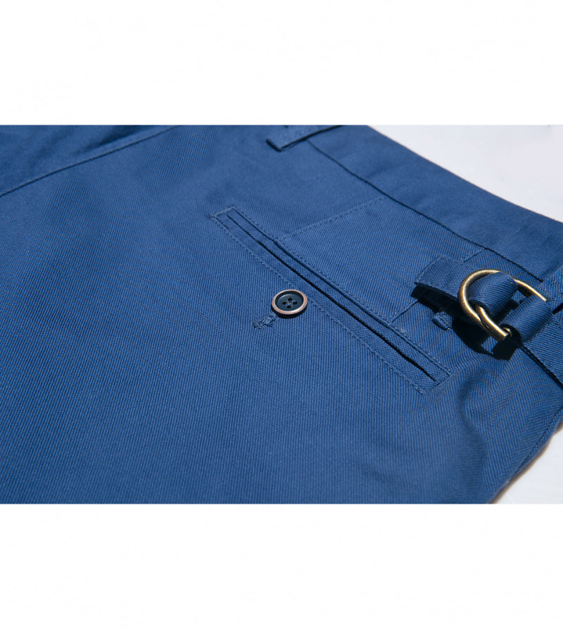Load image into Gallery viewer, Masuda Washed Chino In Cerulean Back