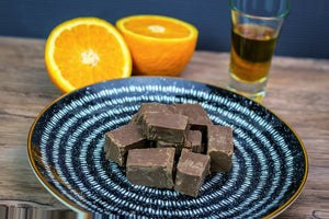 Dark Chocolate Orange Liqueur Fudge