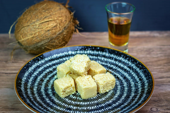 White Chocolate Coconut and Rum Fudge