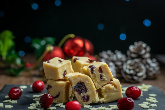Limited Edition - Creamy White Chocolate and Cranberry Fudge
