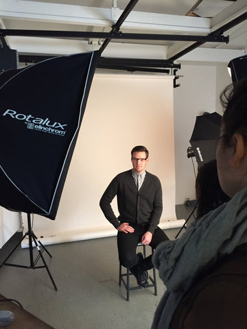 Behind the scenes at Mr Foureyes photo shoot