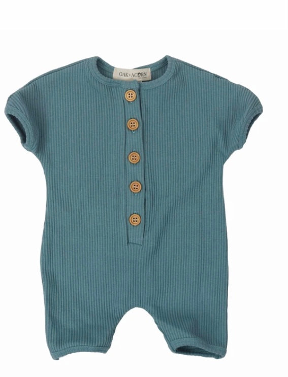 Coastal Short Onesie - Arctic Blue - Oak & Acorn