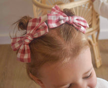 Load image into Gallery viewer, Clip Set - Red Gingham - Mae & Rae