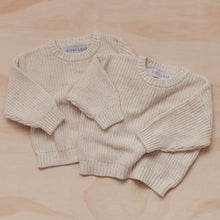 Load image into Gallery viewer, Knitted Jumper - Oatmeal Fleck - Ziggy Lou