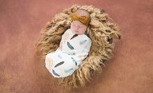 Load image into Gallery viewer, Baby Jersey Wrap & Beanie Set - Dreamweaver - Snuggle Hunny