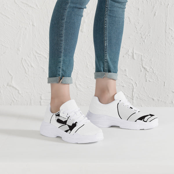 Urban Island Gear Chunky Sneakers - White/Black Men's and Women's