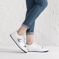 Urban Island Gear G33 Low-Top Leather Sneakers - White