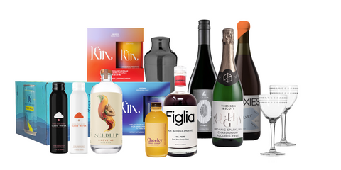 Boisson Ultimate Sober October Kit featuring Seedlip, Kin, Figlia, Athletic Brewing and more
