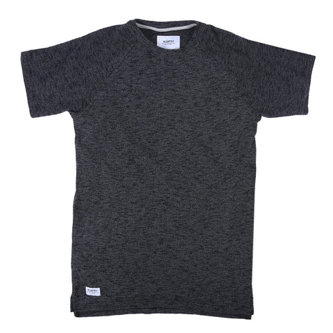 Viso French Terry Extended Tee  - Black Melange