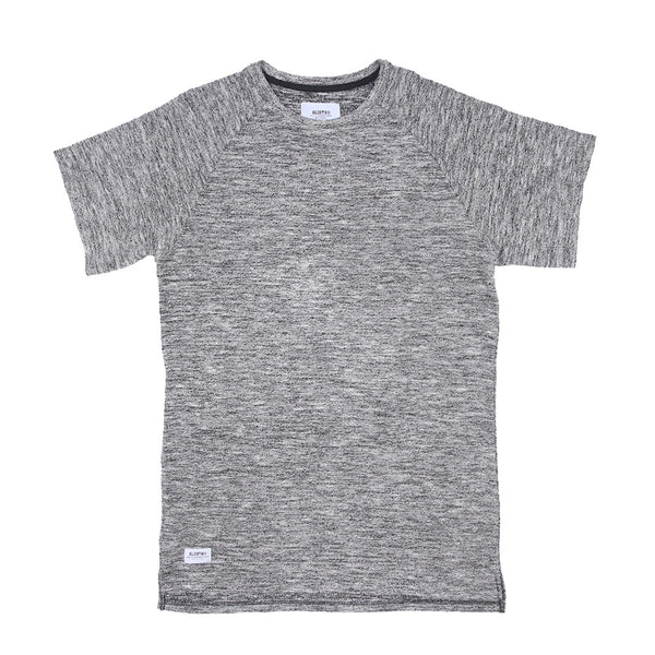 Viso French Terry Extended Tee  - Salt/Pepper