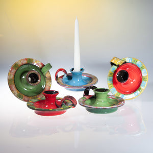 Brightly Coloured Candle Holder for thin candles