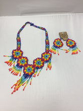 Load image into Gallery viewer, Set of Earrings and Necklace Huichol
