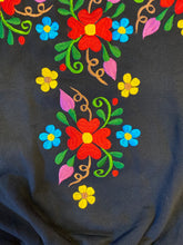 Load image into Gallery viewer, Floral Black Sweater