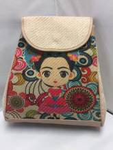 Load image into Gallery viewer, Backpack Frida Kahlo Style #beige