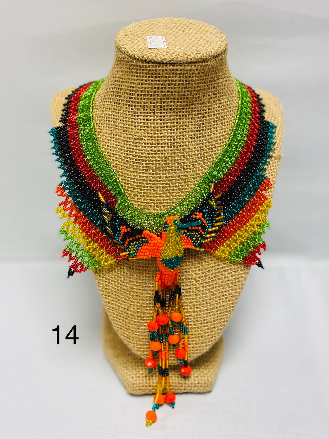 Hummingbird Beaded Huichol  Artisanal Necklace