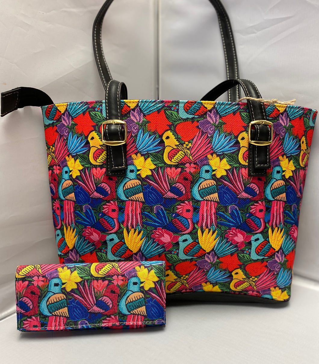Bird design purse with matching clutch