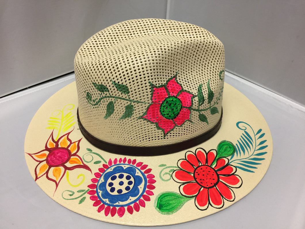 Hand painted Hat/ Sombrero
