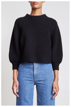 Load image into Gallery viewer, Merel Funnel Neck-Black