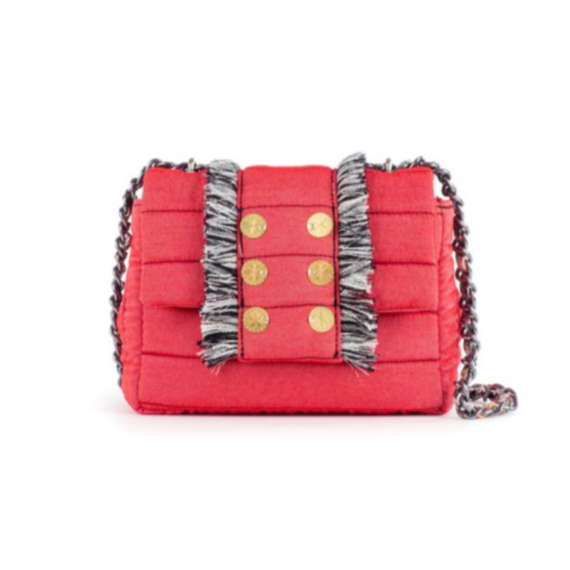 Barcelona Pillow Bag- Denim Rojo