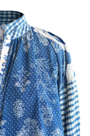 Load image into Gallery viewer, Kiki Blue Patchwork Shirt