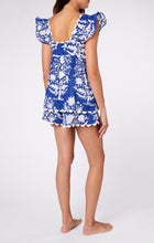 Load image into Gallery viewer, Baby Doll Top in Palladio Block Print- Blue