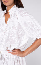 Load image into Gallery viewer, Palladio Print Blouson Dress- White