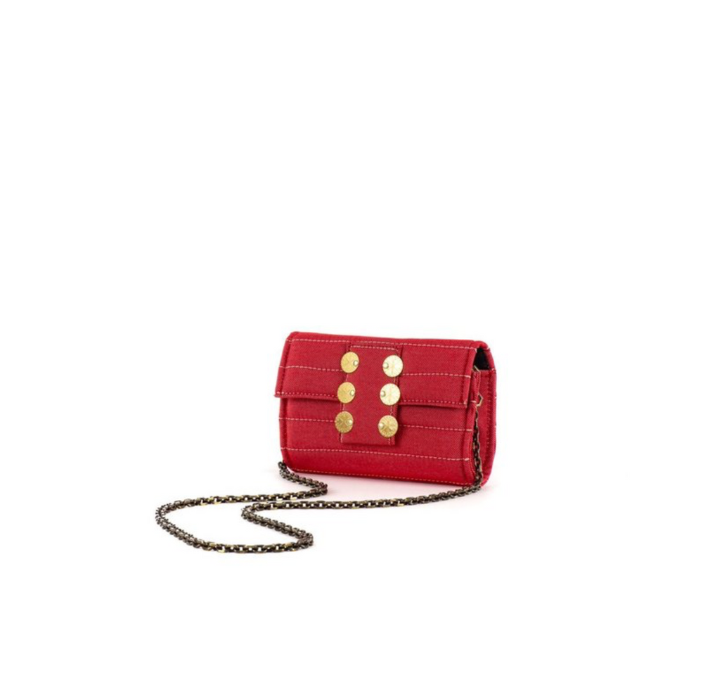 Clutch Amalfi- Denim Rojo