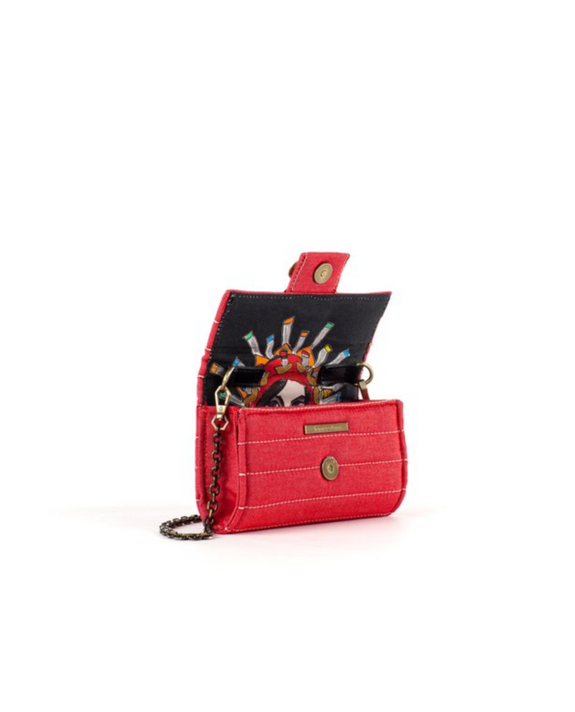 Load image into Gallery viewer, Clutch Amalfi- Denim Rojo