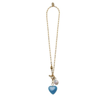 Load image into Gallery viewer, Heart Strings Necklace in Cerulean
