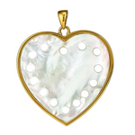 Heart Pendant - Mother of Pearl