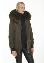 Load image into Gallery viewer, Canvas Parka with Fox Trim