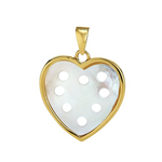 Petite Heart Pendant - Mother of Pearl