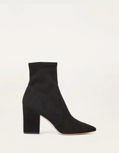 Load image into Gallery viewer, Isla Slim Ankle Bootie- Black Suede