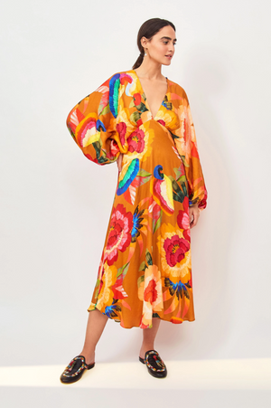 Cashew Floral Maxi Dress