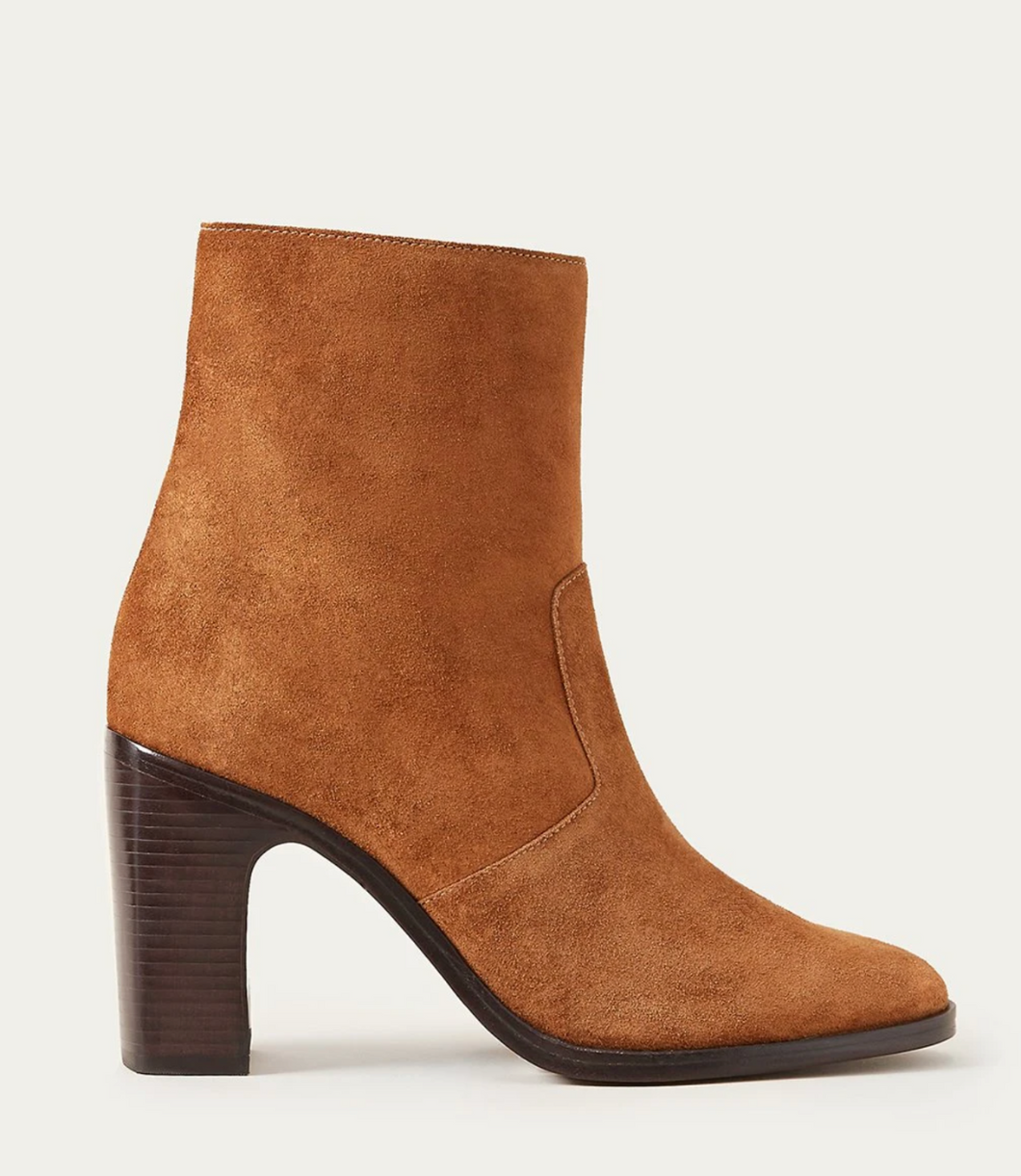 Slim Tall Ankle Boot-Cacao