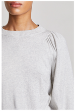 Load image into Gallery viewer, Dewi Puff Sleeve Crew Neck-Grey