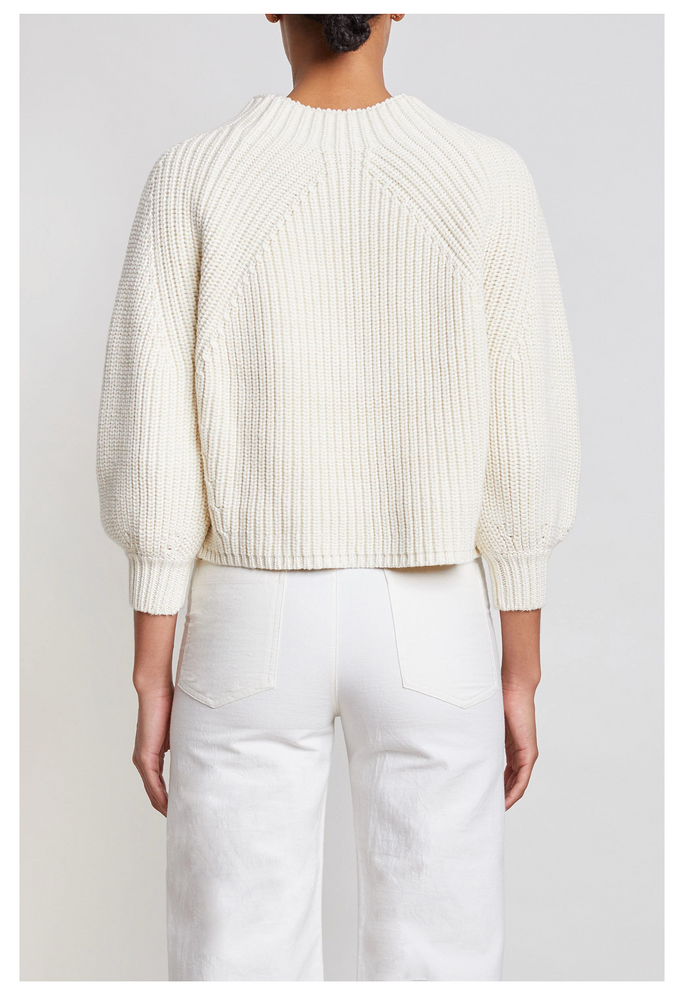 Load image into Gallery viewer, Merel Funnel Neck-Cream