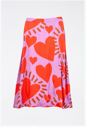 Load image into Gallery viewer, Wild Hearts Midi Skirt