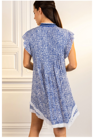 Mini Dress Sasha-Blue Canary