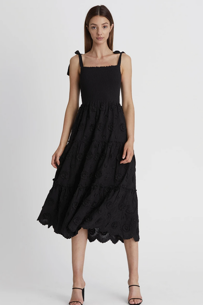 Load image into Gallery viewer, Avril Midi Dress-Black