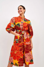 Load image into Gallery viewer, Yellow Solar Chita Midi Canvas Dress