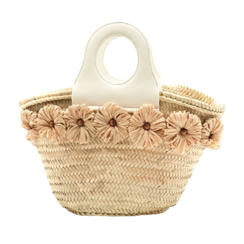 Beach Tote with Flowers