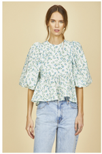 Harlow Top-Dewberry Floral