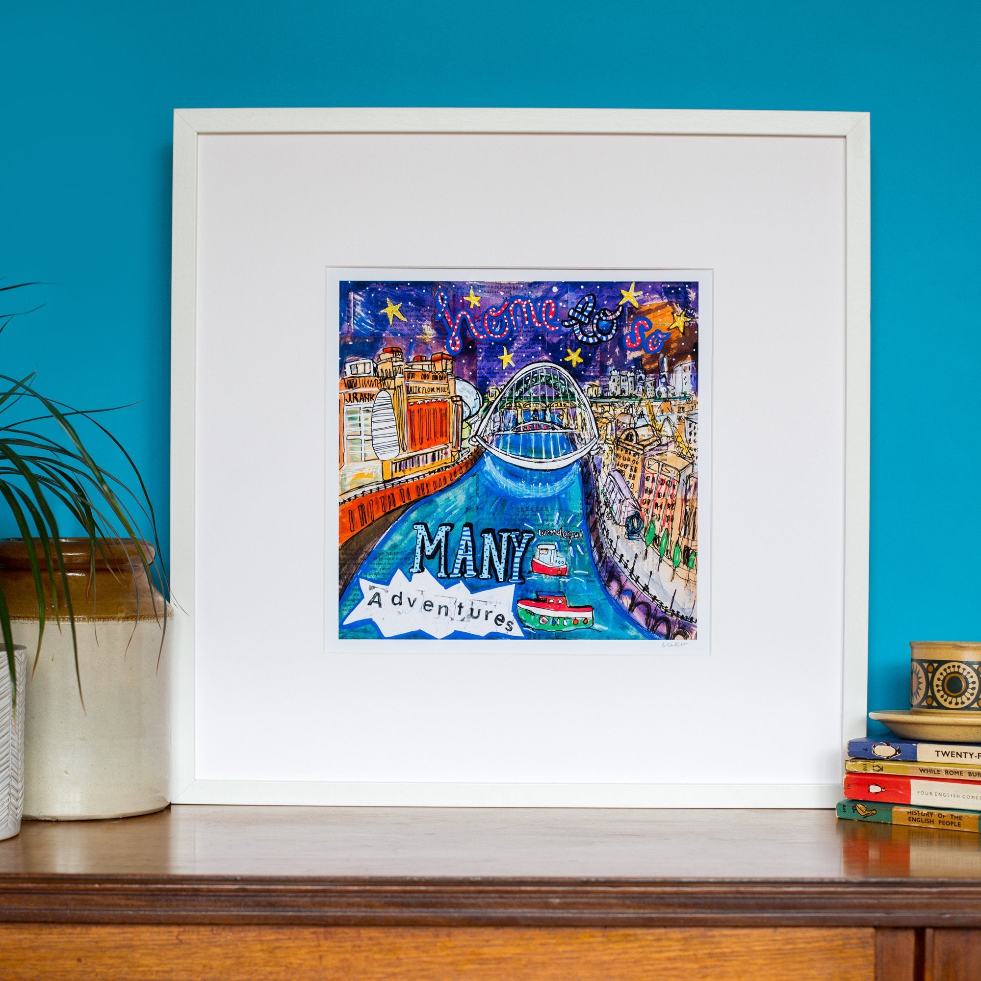 'Toon' Print (Large) Newcastle Quayside
