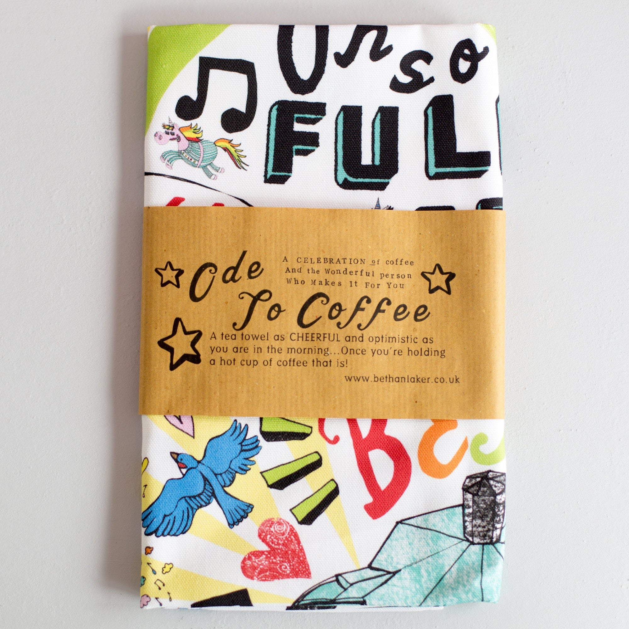 'Ode to Coffee' 100% cotton Tea Towel